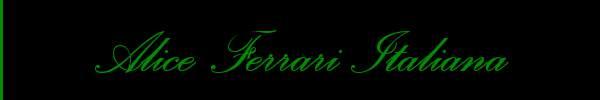 Alice Ferrari Italiana  Pavia Trans 3711858403 Sito Personale Class