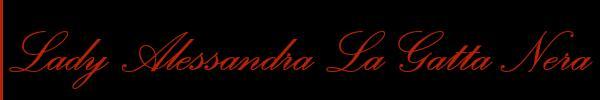Foto del sito personale di Lady Alessandra La Gatta Nera Mistress Trans Milano